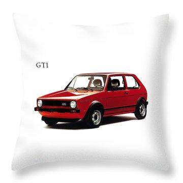 Vw Golf Gti 1976 Throw Pillow