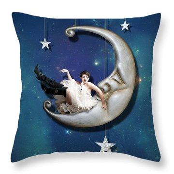 Paper Moon Throw Pillow