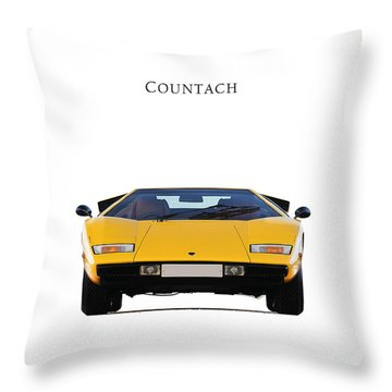 Lamborghini Countach Throw Pillow by Mark Rogan