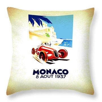 Monaco 1937 Throw Pillow
