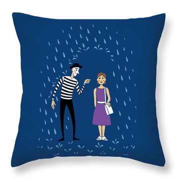 A Helping Hand Throw Pillow