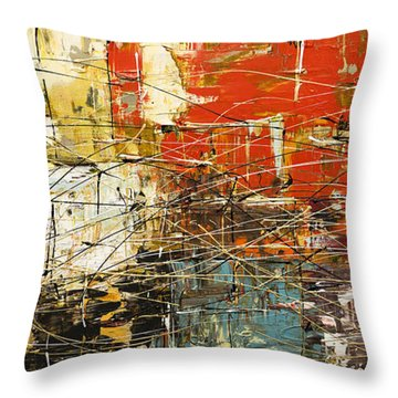 Throw Pillow featuring the painting Artylicious by Carmen Guedez