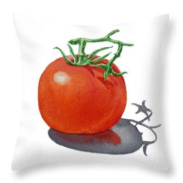 Artz Vitamins Tomato Throw Pillow