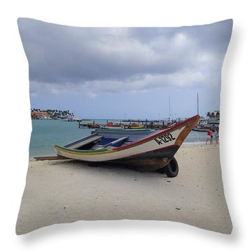 Aruba Beach Throw Pillow