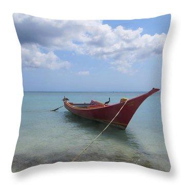 Throw Pillow featuring the photograph Aruba by Jean Marie Maggi