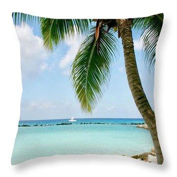 Aruban Oasis Throw Pillow