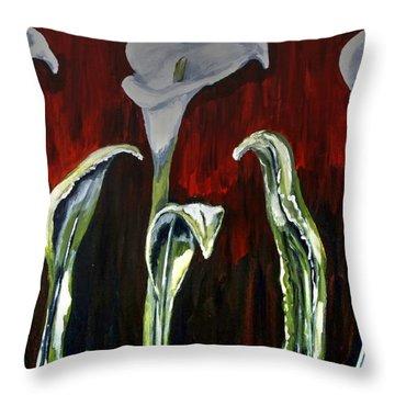 Arum Lillies Throw Pillow