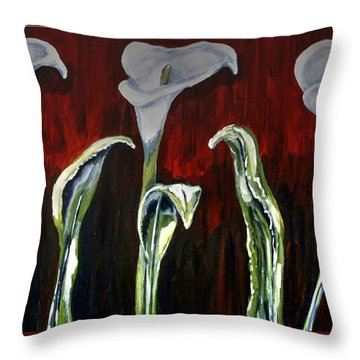 Arum Lillies Throw Pillow