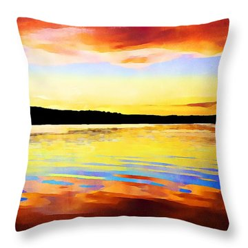 As Above So Below - Digital Paint Throw Pillow