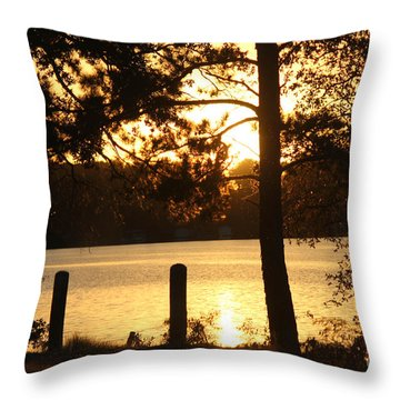 As Another Day Closes Throw Pillow