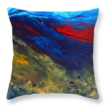 As Far As The Eye Can See Throw Pillow by Elizabeth Kendall
