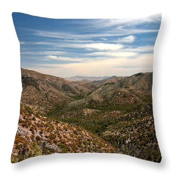 Throw Pillow featuring the photograph As Far As The Eye Can See by Joe Kozlowski