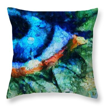 As He Said Goodbye - Painting  Throw Pillow