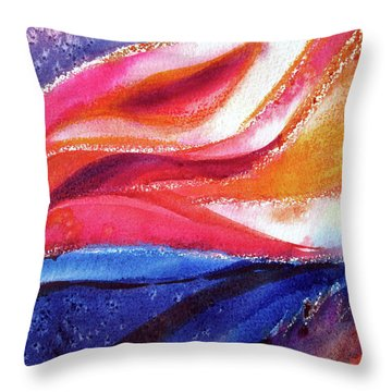 Throw Pillow featuring the painting As I Bloom by Kathy Braud