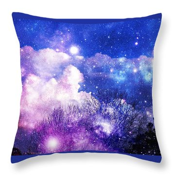 As It Is In Heaven Throw Pillow by Leanne Seymour