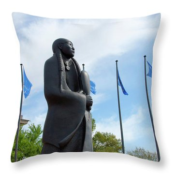 As Long As The Waters Flow Sculpture Throw Pillow