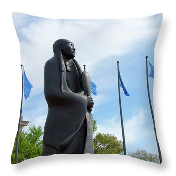 As Long As The Waters Flow Sculpture Throw Pillow by Toni Hopper