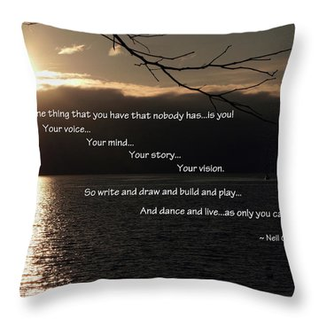 Throw Pillow featuring the photograph As Only You Can by Jordan Blackstone