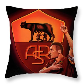 As Roma Painting Throw Pillow