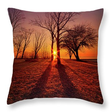 Throw Pillow featuring the photograph As Sure As The Sun Will Rise by Phil Koch