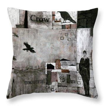 As The Crow Flies  Throw Pillow