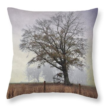 As The Fog Sets In Throw Pillow by Jan Amiss Photography