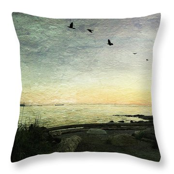 Throw Pillow featuring the photograph As The Sky Darkens  by Connie Handscomb