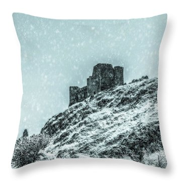 As The Snow Falls Throw Pillow by Andrea Mazzocchetti