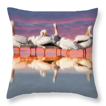 As The Sun Goes Down Throw Pillow