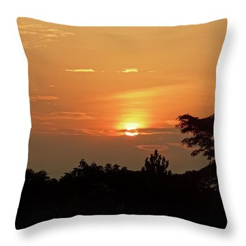 As The Sun Sets ... Orange Throw Pillow