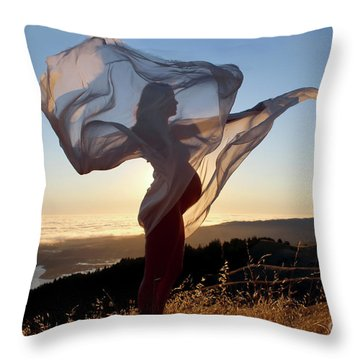 As The Wind Carries The Flower Of A New Life Throw Pillow