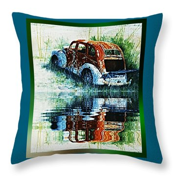 As Time Goes By. . . Throw Pillow by Hartmut Jager