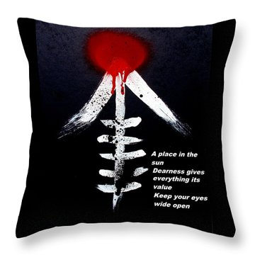 Throw Pillow featuring the painting  Asahinoataruie by Roberto Prusso