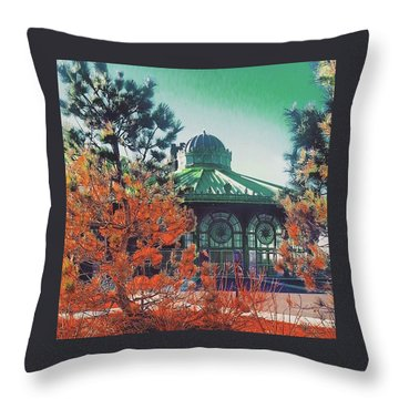 Asbury Park Carousel Throw Pillow by Lauren Fitzpatrick