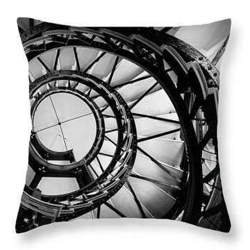 Ascend - Black And White Throw Pillow