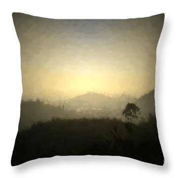 Ascend The Hill Of The Lord - Digital Paint Effect Throw Pillow