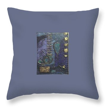 Throw Pillow featuring the painting Ascending Blue by Bernard Goodman