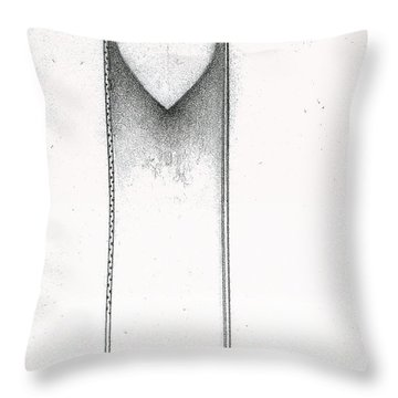Throw Pillow featuring the drawing Ascending Heart by James Lanigan Thompson MFA