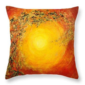 Ascending Light Throw Pillow by Tara Thelen - Printscapes
