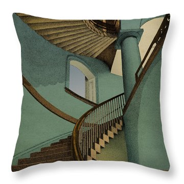 Throw Pillow featuring the drawing Ascending by Meg Shearer