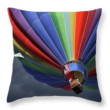 Ascending To The Storm Throw Pillow by Marie Leslie