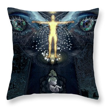 Ascension And Rebirth Throw Pillow by Alex Polanco
