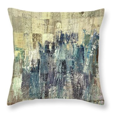 Throw Pillow featuring the painting Ascension - C03xt-159at2b by Variance Collections