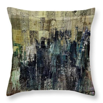 Throw Pillow featuring the painting Ascension - C03xt-159at2c by Variance Collections