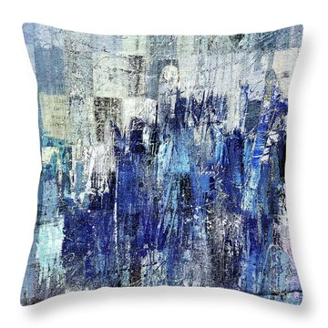 Throw Pillow featuring the digital art Ascension - C03xt-160at2c by Variance Collections