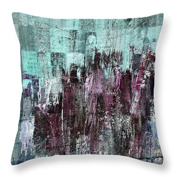 Throw Pillow featuring the digital art Ascension - C03xt-161at2c by Variance Collections