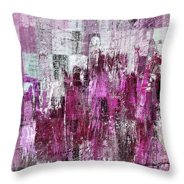 Throw Pillow featuring the digital art Ascension - C03xt-165at2c by Variance Collections