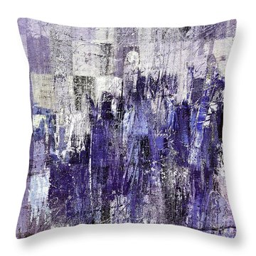 Throw Pillow featuring the painting Ascension - C03xt-166at2c by Variance Collections