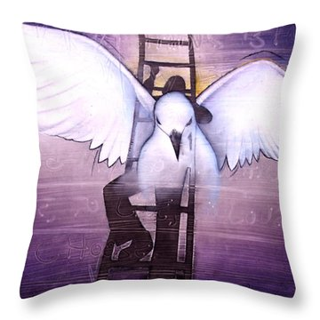 Ascension Throw Pillow by Christopher Marion Thomas