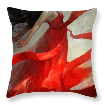 Throw Pillow featuring the painting Ascension by Steve Goad